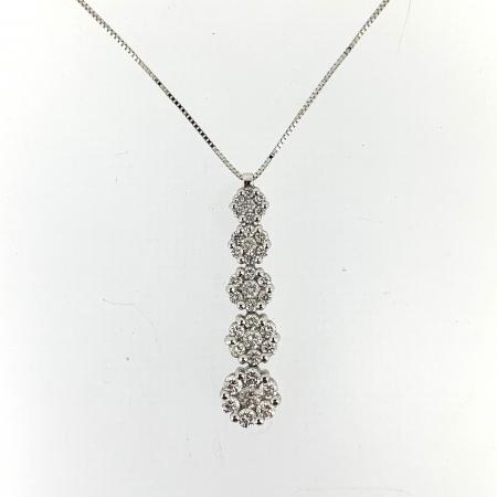 Girocollo Oro Bianco e Diamanti Mirco Visconti AB678