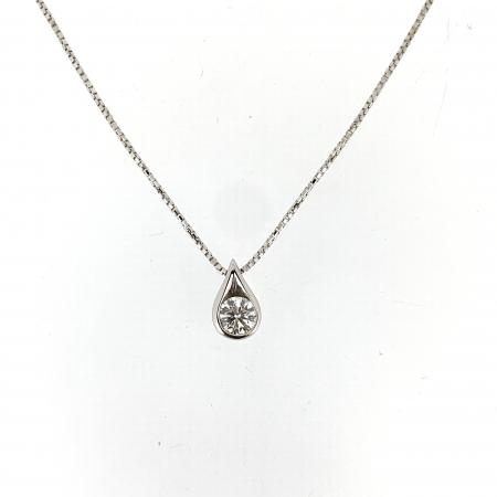 Collana Punto Luce Oro Bianco e Diamante Mirco Visconti BG179/40